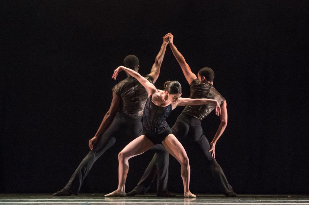 "Visceral Dance Chicago's Caitlin Cucchiara in Mark Godden's ""Minor Threat"". Photo by Todd Rosenberg"
