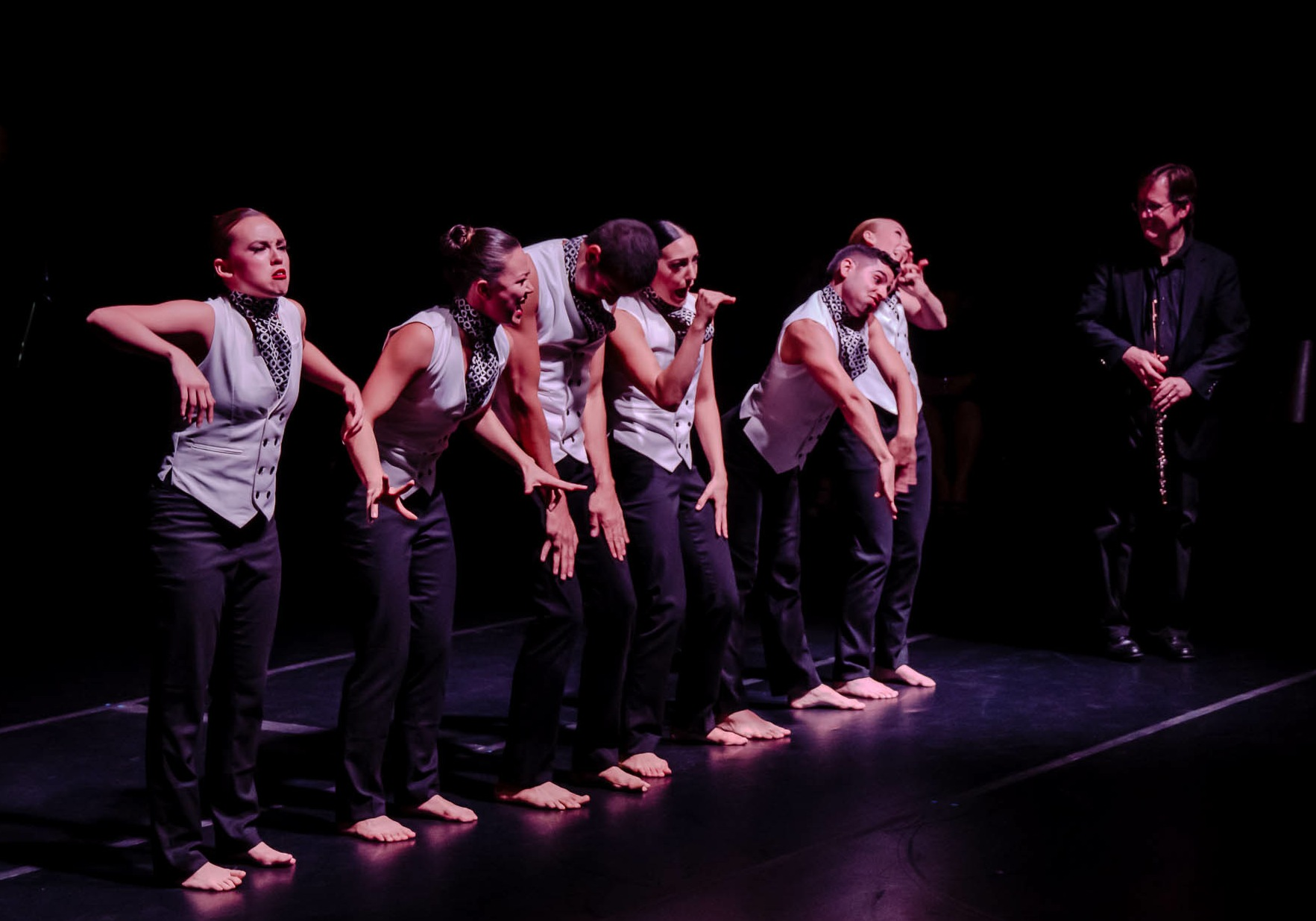 CRDT Dance Ensemble performs Here Comes Treble, with composer Dan Hesler. Choreography by Taylor Mitchell, costumes by Jordan Ross. (Photo by Dan Hasburger)