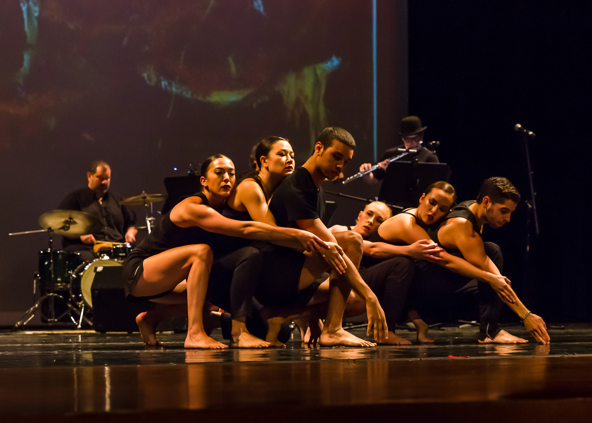 CRDT Treble - CRDT dancers and musicians preview Here Comes Treble, which will debut at Alone/Together in October (Photo by Dan Kapsberger)