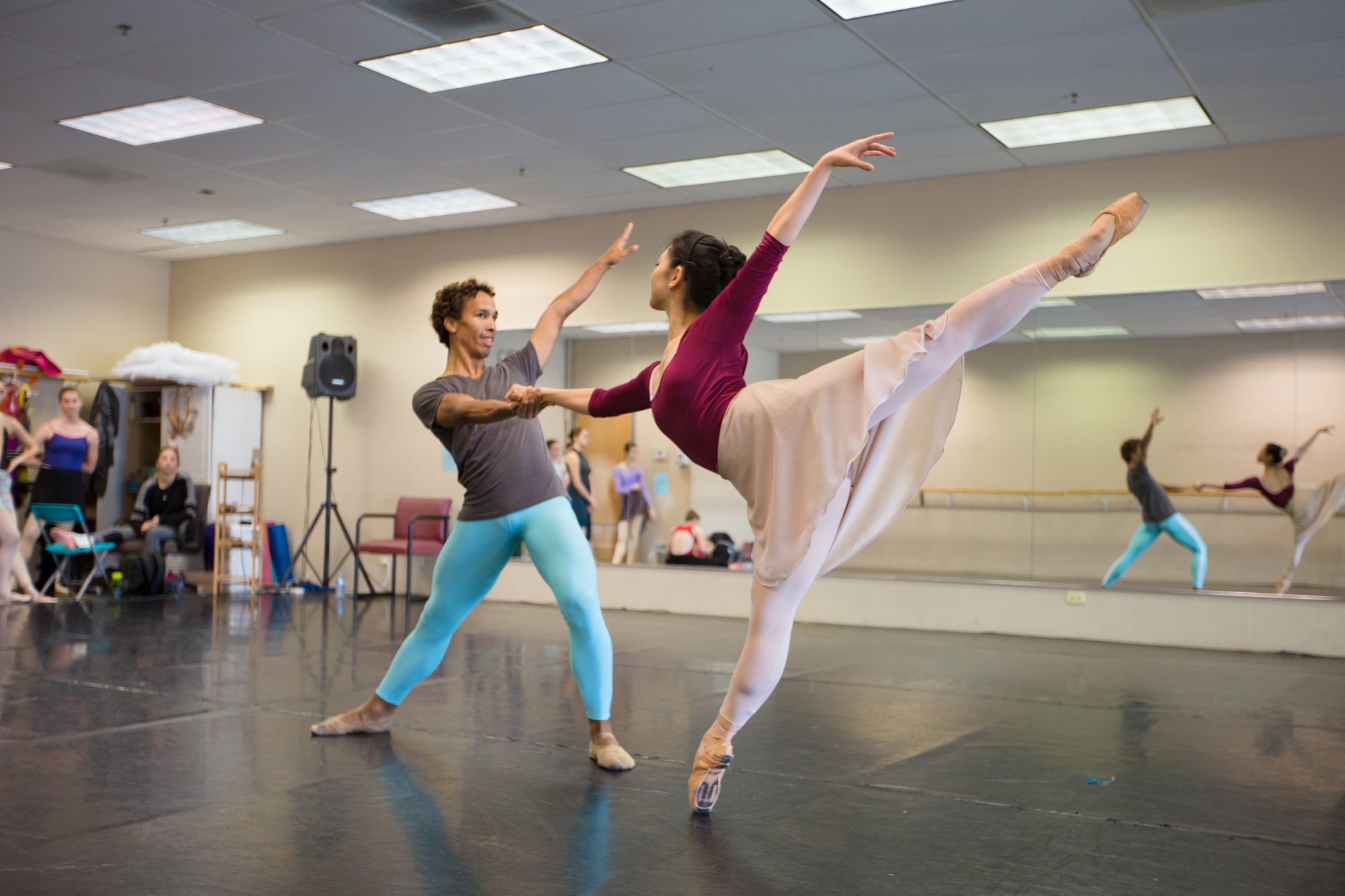 "Ballet 5:8 Rehearsing ""All God's Children"" (Photo courtesy of Ballet 5:8)"