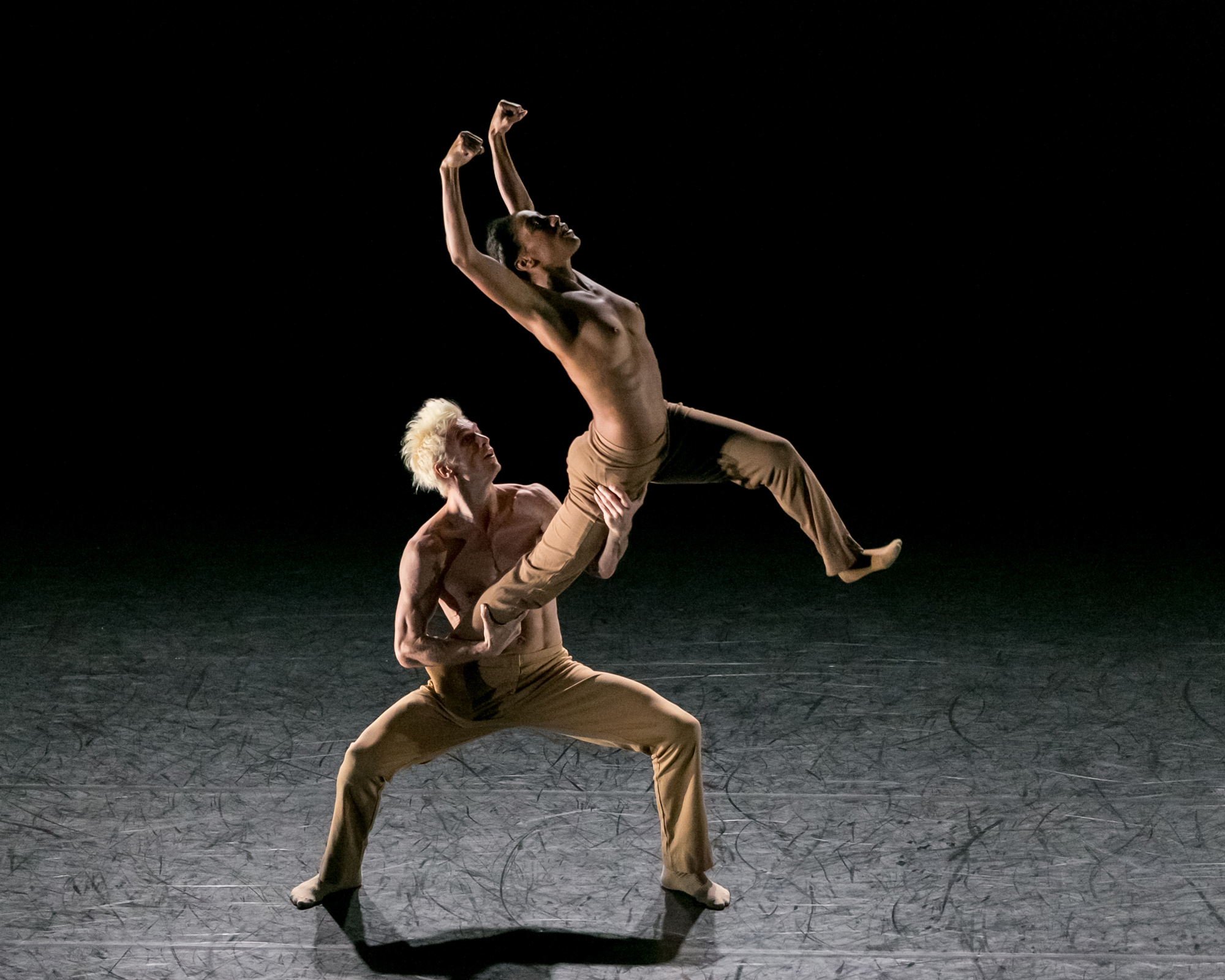 """Rena Butler and Manuel Vignoulle in """"Black & White"""" (Photo by Sharon Bradford)"""