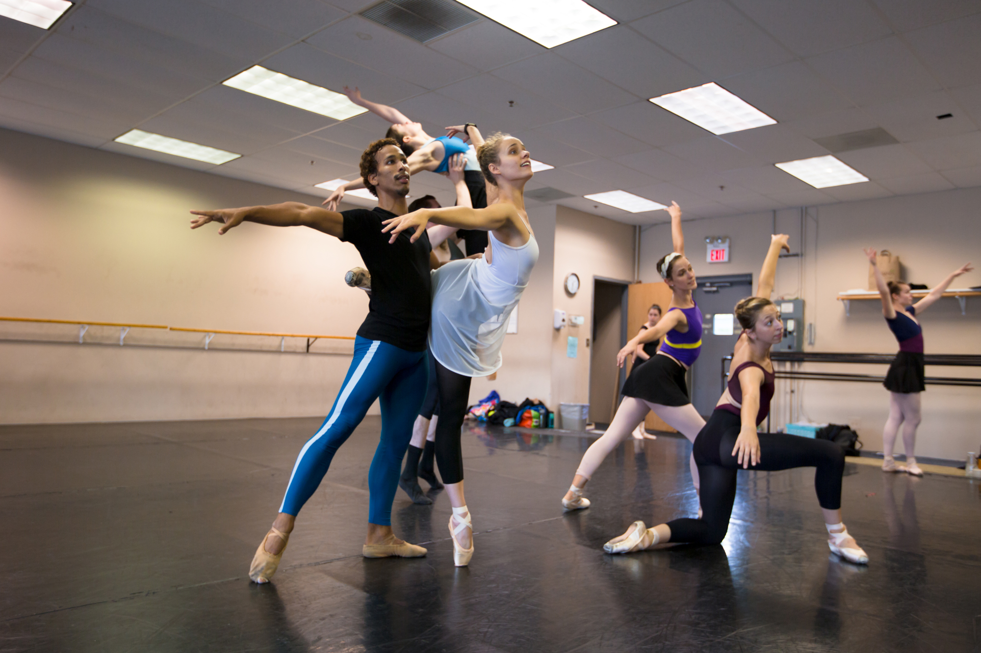 "Ballet 5:8 Rehearsing ""Shades of Refrain"" (Photo courtesy of Ballet 5:8)"