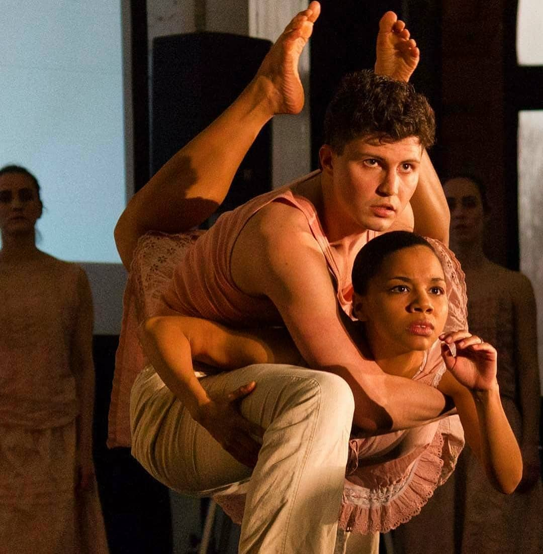 Brennen Renteria and Briana Arthur in Cerqua Rivera Dance Theatre in American Catracho (Photo byDan Kasberger)