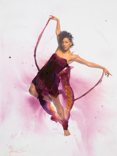 Hubbard Street Dance Chicago's Rena Butler (Photo by Todd Rosenberg, Graphic Design by Alice Klock)