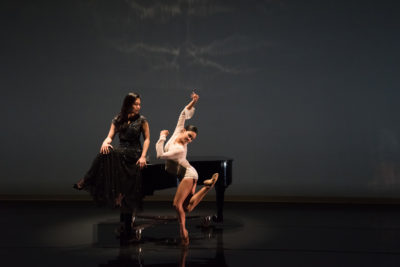 Joyce Yang and Aspen Santa Fe Ballet's Seia Rassenti (photo by Michele Cardamo)