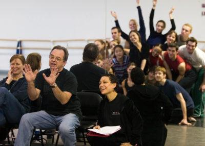 Lou Conte rehearsing The 40's (Photo Courtesy of Cheryl Mann)