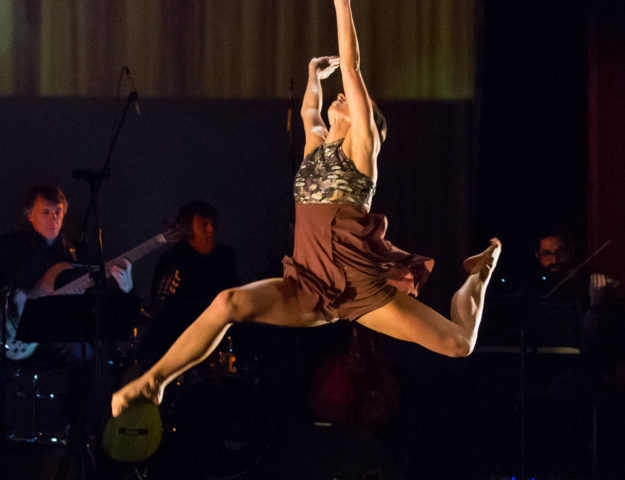 """CRDT Dancer Briana Arthur in """"Root"""" (Choreography by Monique Haley, Photo by Bill Frederking)"""