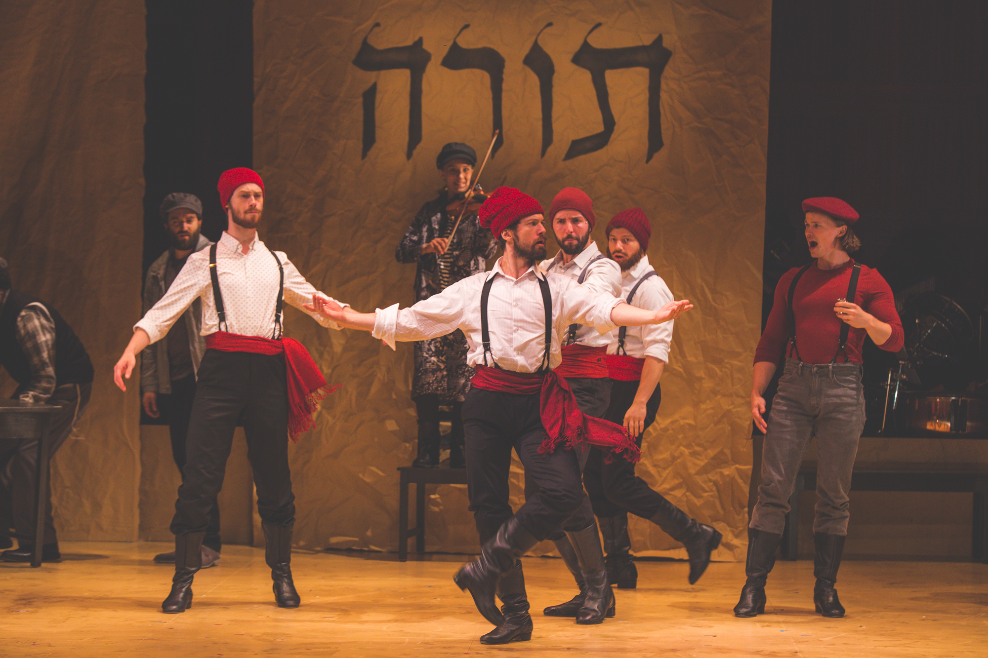A Scene from Fiddler on the Roof in Yiddish